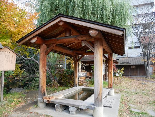 長野県千曲市 カラコロの湯 もちろん足湯には浸かりました